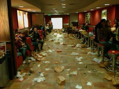 Afvalberg Burger King