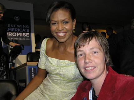 Kirsten en Michelle Obama