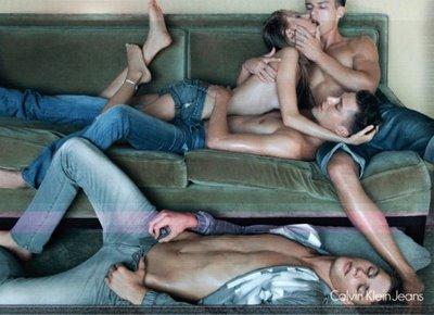 Calvin Klein orgie