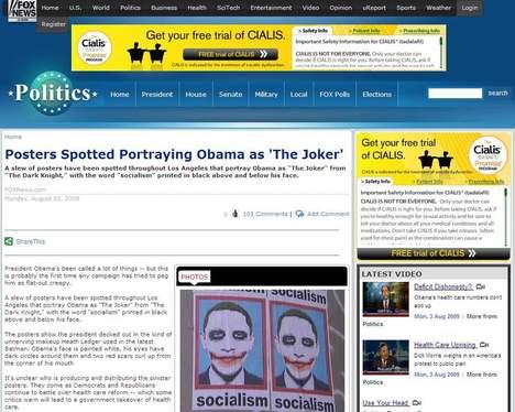Posters geven Obama weer als The Joker