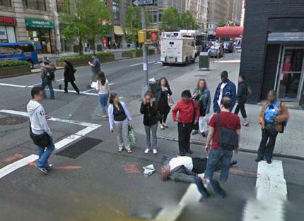 Dooie op Street View