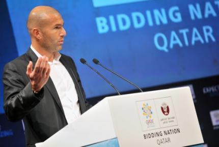 Zidane ambassadeur voor WK-bid Qatar
