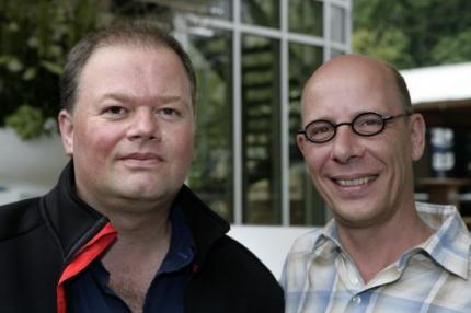 Stompé en Van Barneveld in Oranje