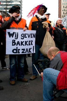 Ook Zwarte Piet protesteert