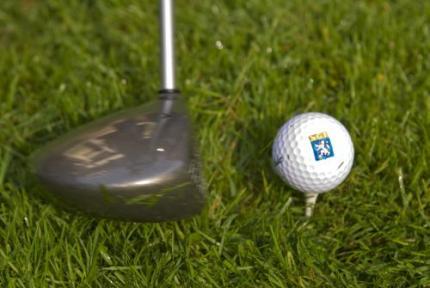 Golfbal doodt tuinman