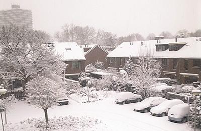 Sneeuw in Voorburg
