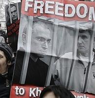 Demonstratie tegen veroordeling Chodorkovski