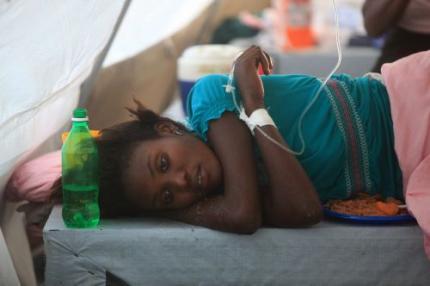 Al ruim 3300 doden door cholera Haïti