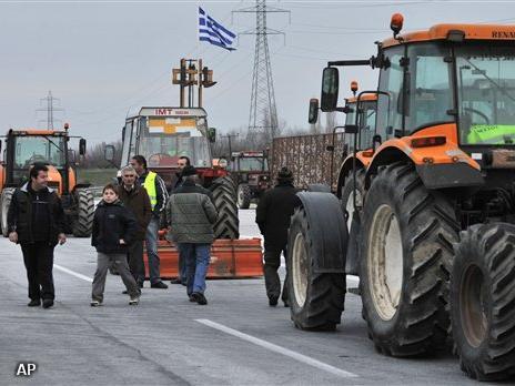 Boeren blokkeren senlweg