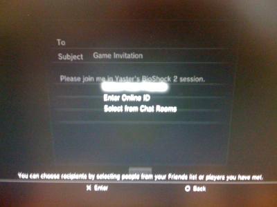 PS3 invite