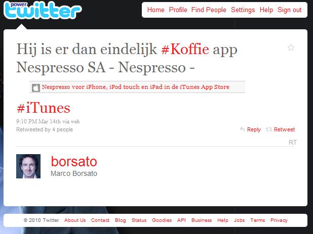 Borsato twittert niet tegen betaling