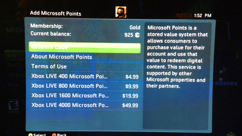 Microsoft points VS