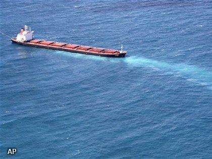 Kapitein van schip dat rif beschadigde opgepakt