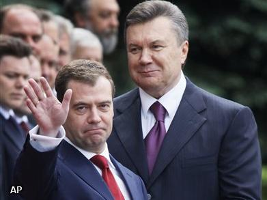 Medvedev op bezoek in Oekraïne