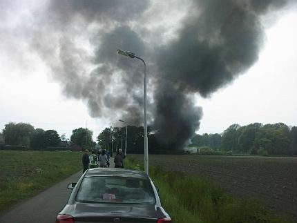 brand bij hazennest