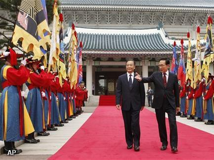 Chinese premier in Seoul