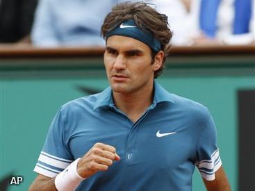 Roger Federer door in Halle
