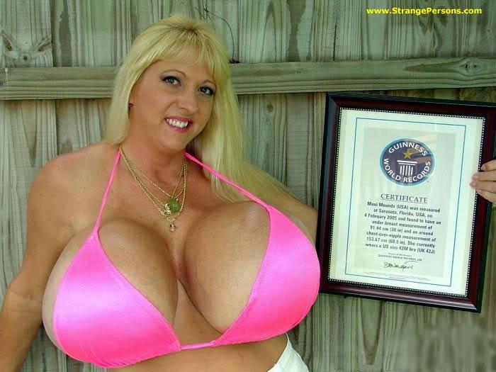 Guinness record: Grootste tieten
