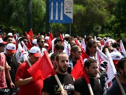 Onlusten bij stakingen in Athene