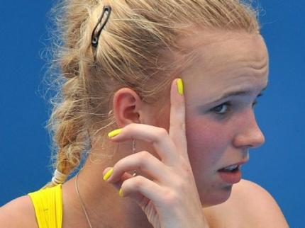 Wozniacki onderuit in Sydney