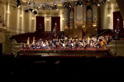 Concertgebouw Orkest met Beatrix mee