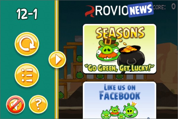 Angry birds ads