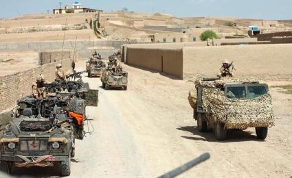 Britse patrouille, Afghanistan