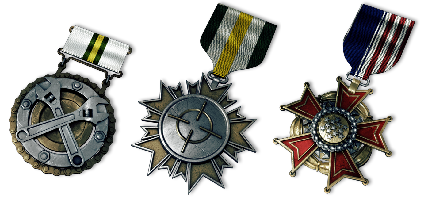 BF3 medals