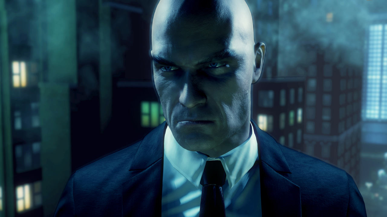Badass Agent 47 looking away into the distance