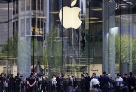 Tientallen nepwinkels Apple gevonden in China