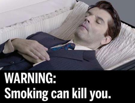 Tabaksreuzen VS naar rechter om schrikfoto's