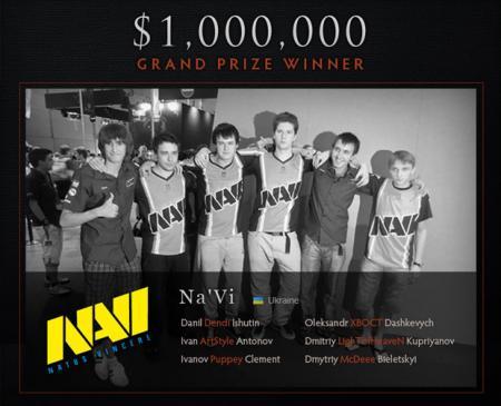 Na'Vi - winnaars DOTA 2-toernooi gamescom 2011