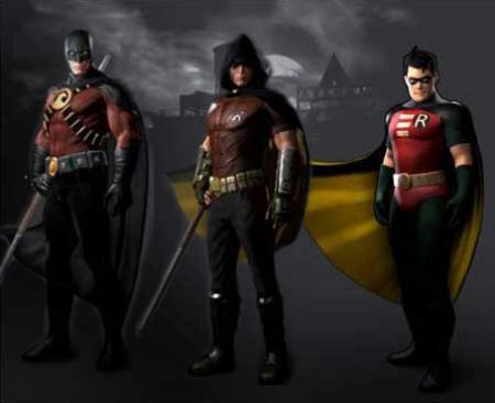 Batman: Arkham City Robin-skins