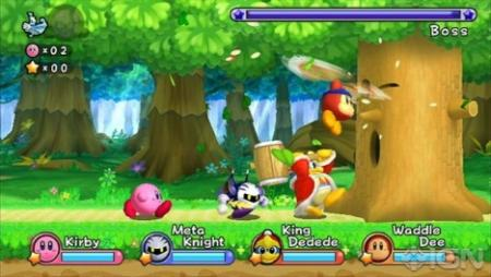 Kirby's Return To Dreamland: gameplay co-op