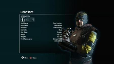 Batman: Arkham City - Deadshot bio