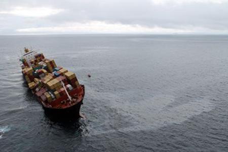 Schip lekt weer olie bij Nieuw-Zeeland