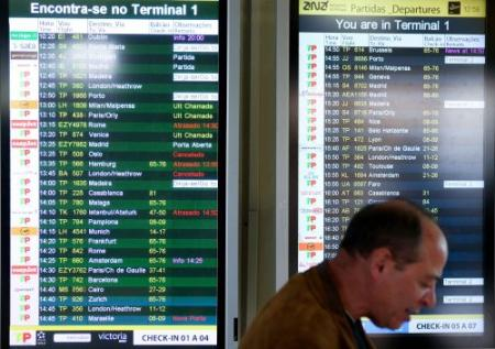 Noodweer belemmert vliegverkeer Faro