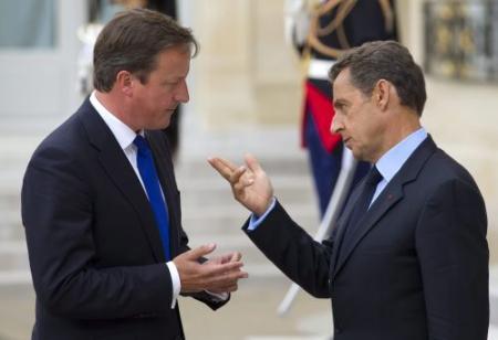 'Sarkozy en Cameron botsen op EU-top'