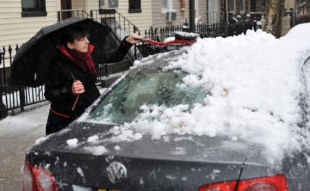 Vroege sneeuwstorm in noordoosten VS