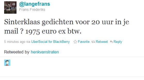 Foknl Nieuws Lange Frans Gedicht Voor 1975 Euro Ex Btw