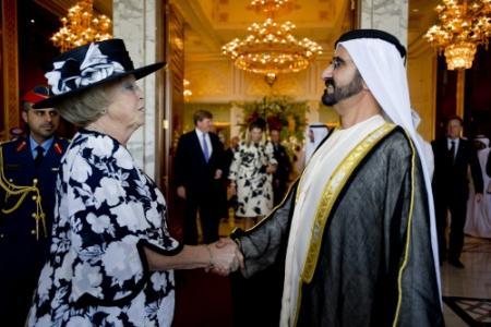 Koningin onderstreept belang handel met VAE