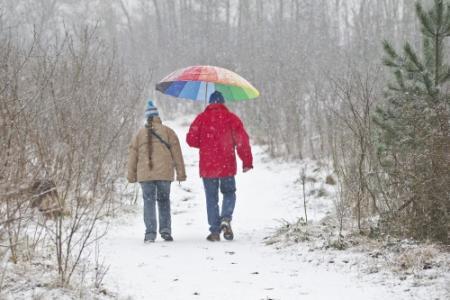 'Klein kansje op paar vlokjes sneeuw'