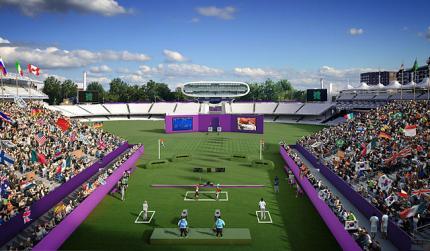 Impressie van Lord's Cricketgroud tijdens de OS