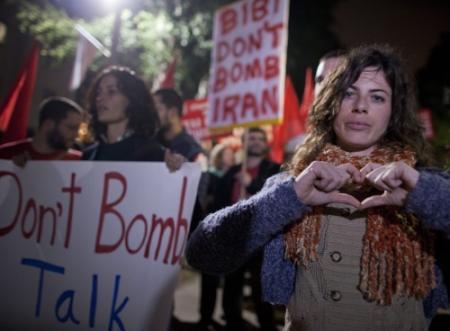 Betoging in Israël tegen aanval op Iran