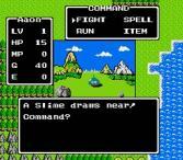 Een gevecht in de originele Dragon Quest