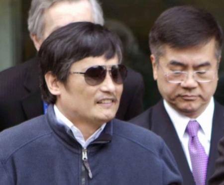 Blinde dissident Chen aangekomen in VS