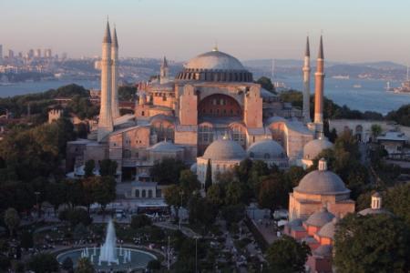 Protest tegen verbod diensten in Hagia Sophia