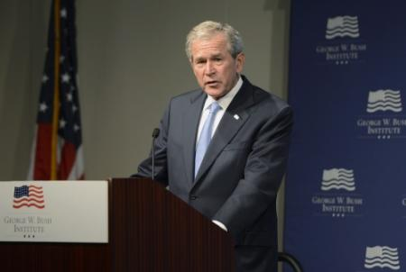 George Bush dagje terug in Witte Huis