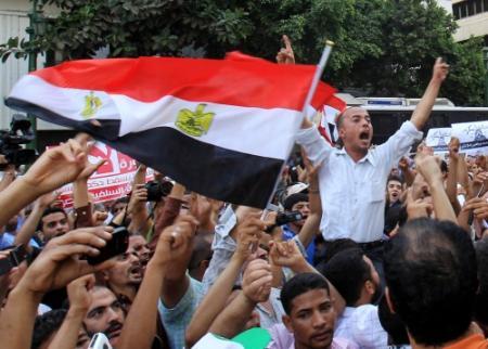 Tahrirplein Egypte weer toneel van protest