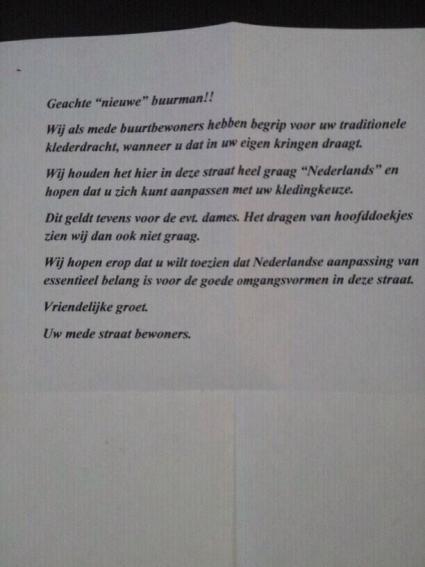 FOK.nl / Columns / Brief aan Racistische Buur